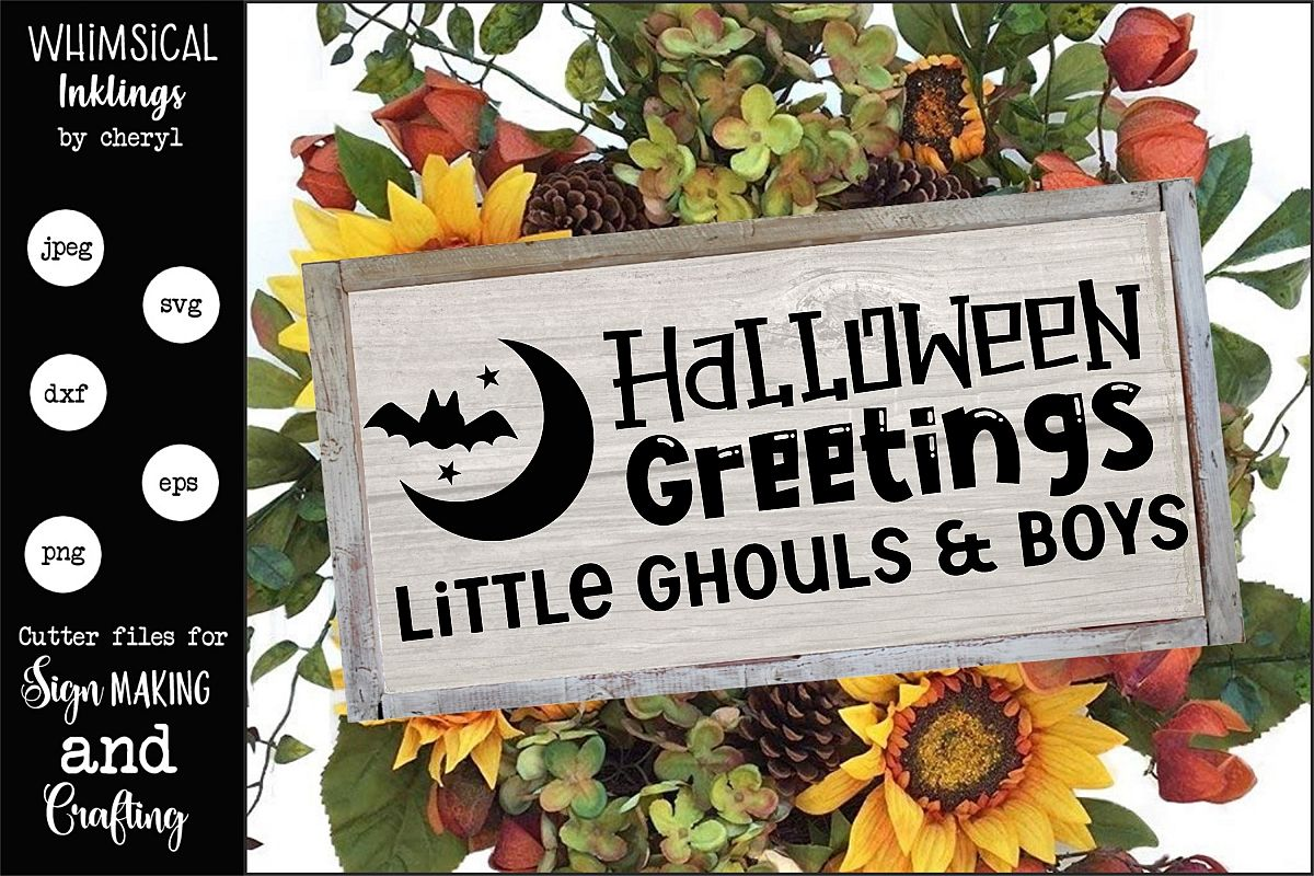 Halloween Greetings SVG example image 1