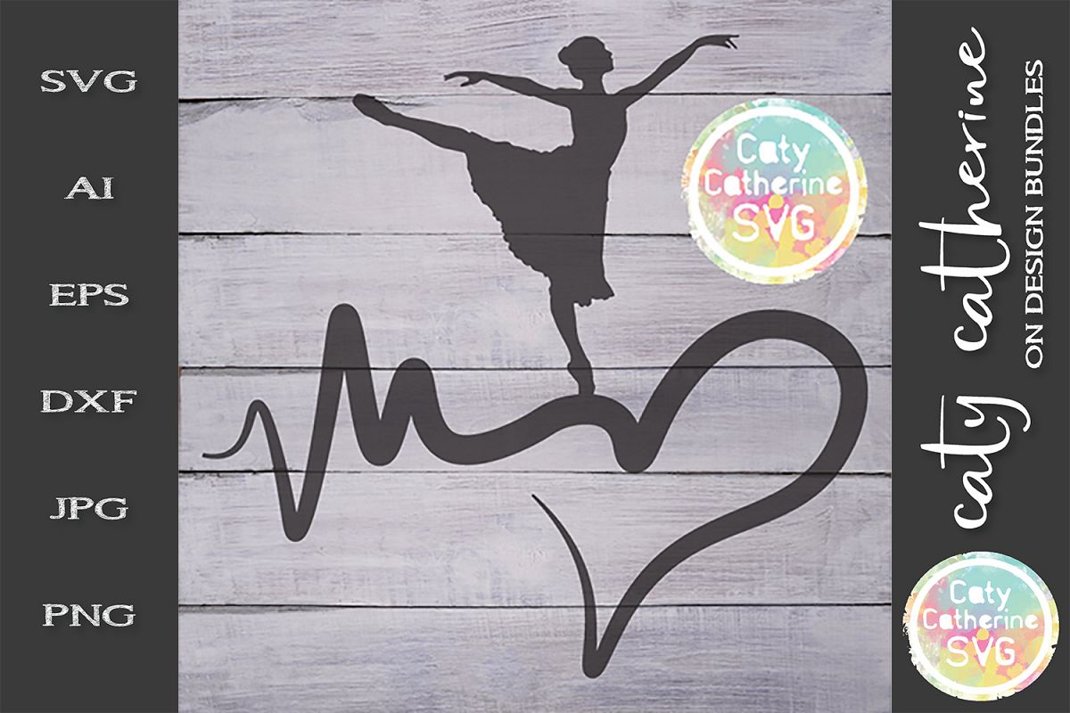 Heartbeat Love Heart Dance SVG Cut File example image 1