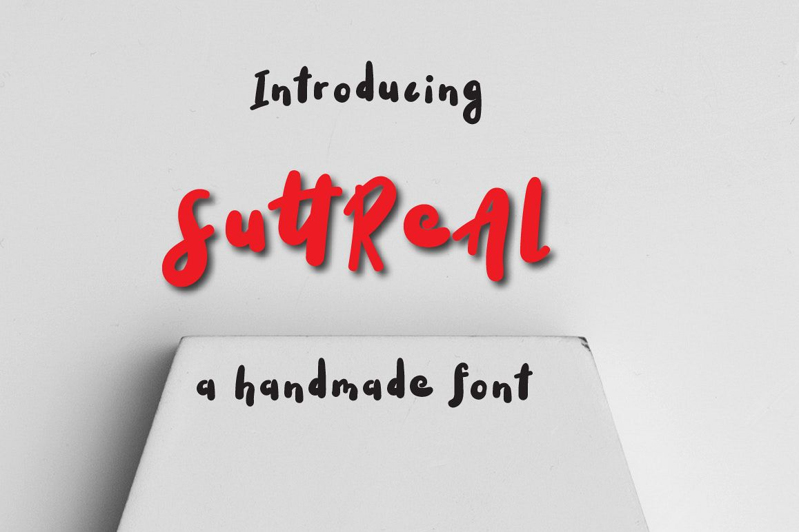 SuttReAl Typeface example image 1