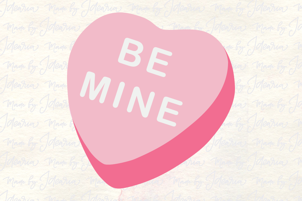 Be Mine Svg Sugar Candy Svg Valentines Svg Valentines Day Svg