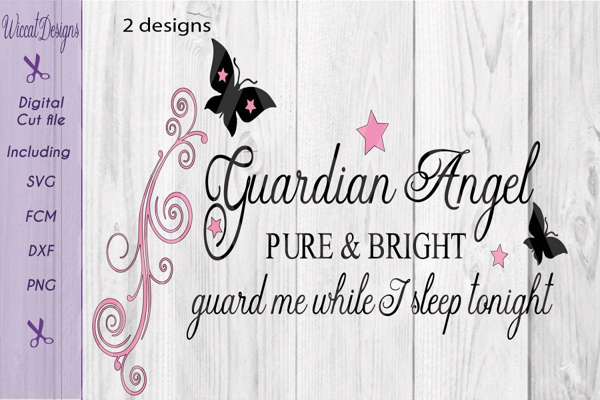 Guardian angel svg, Angel quote, Nursery wall svg,