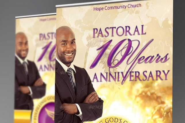 Clergy Anniversary Banner Template example image 1