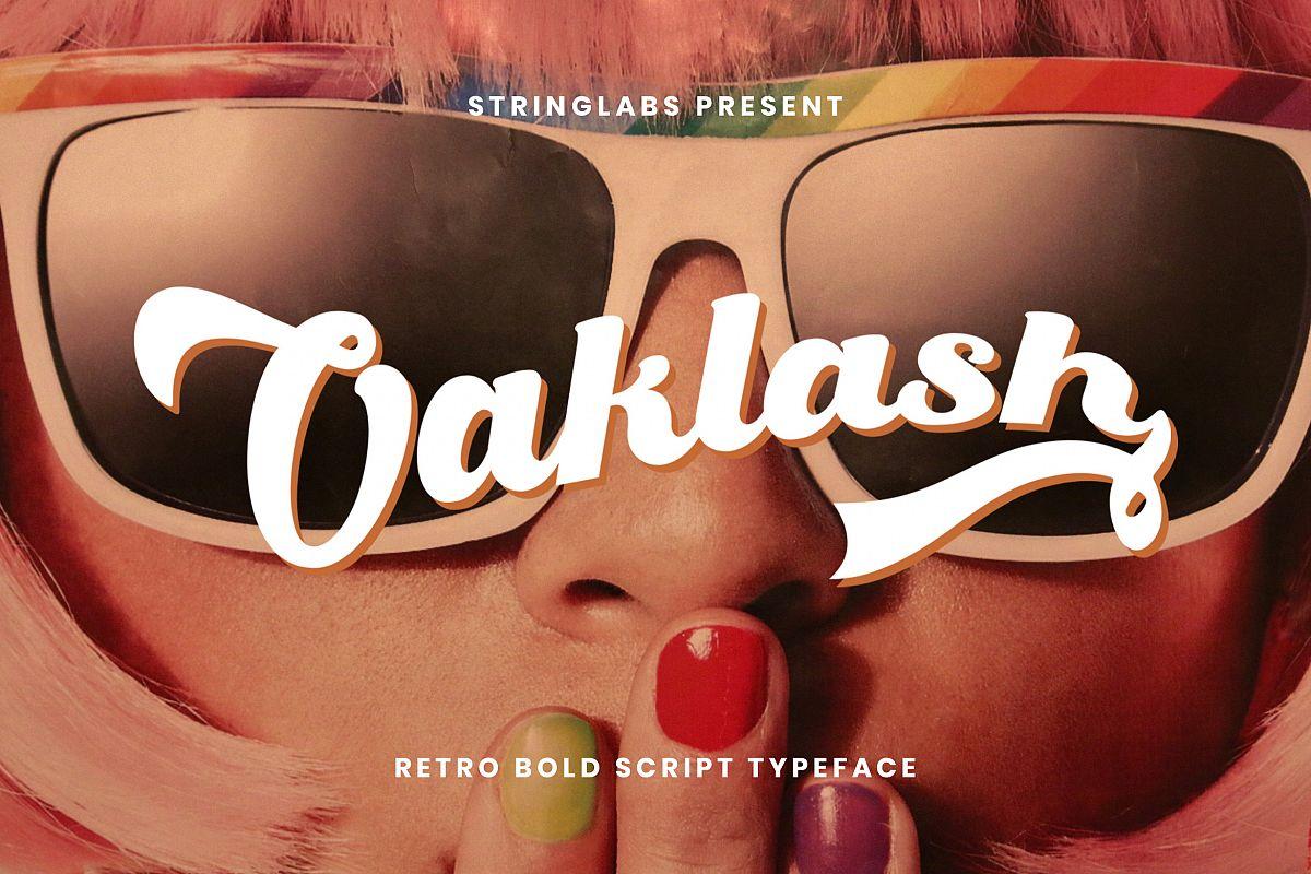 Oaklash - Retro Bold Script Font example image 1