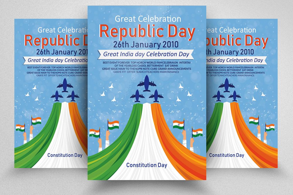 Indian Republic day FLyerTemplate example image 1