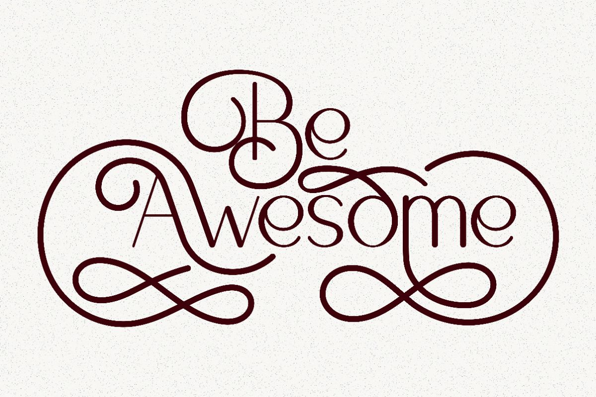 Be Awesome Lettering Quotes example image 1