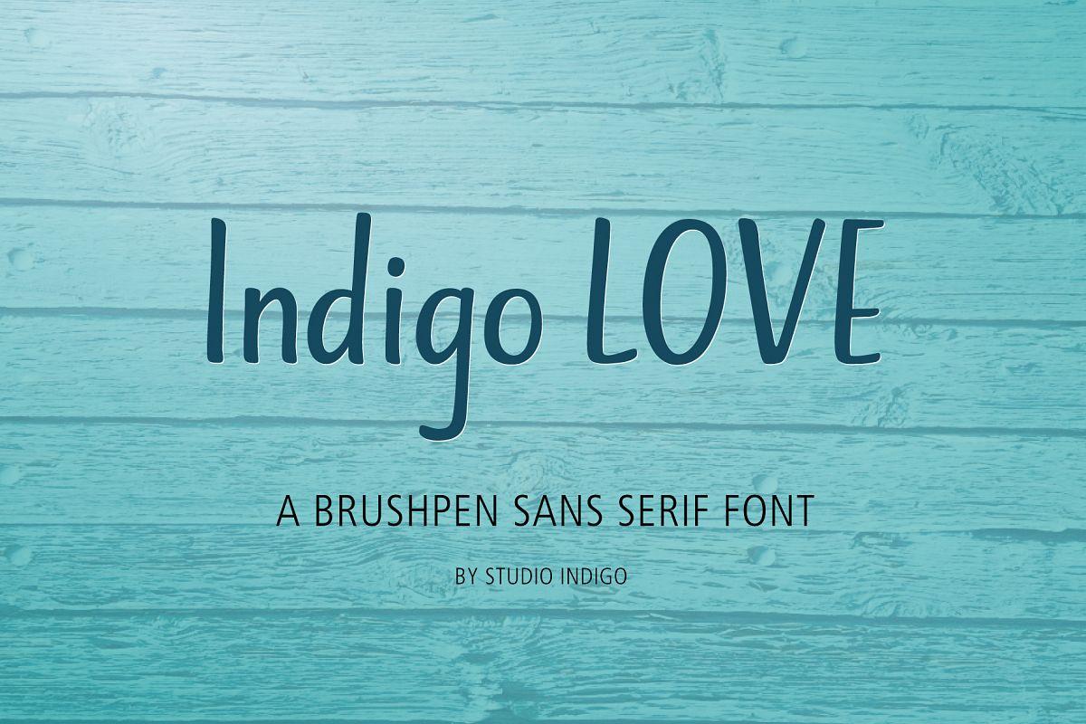 Indigo Love a Sans Serif Font example image 1