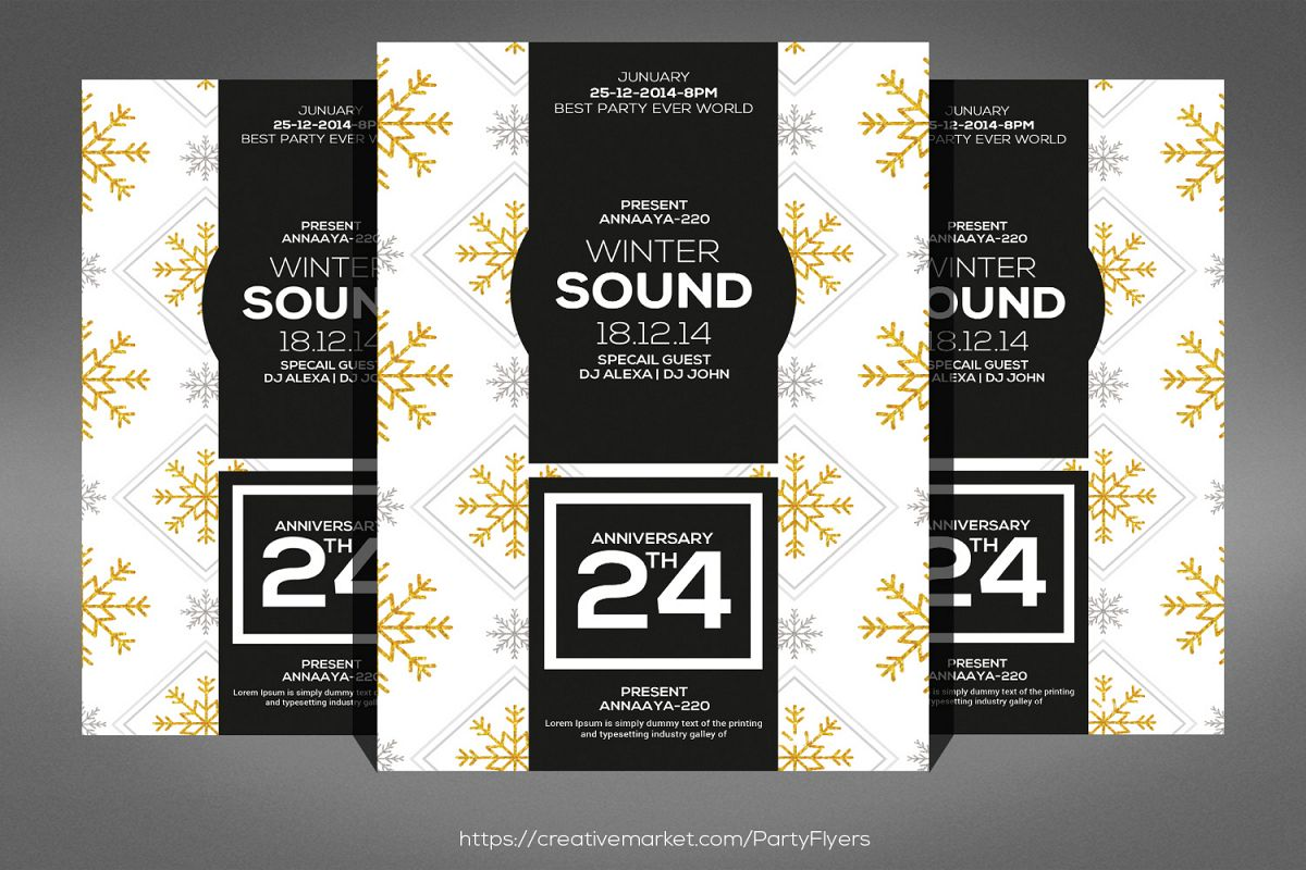 Winter Sound Party Flyer example image 1