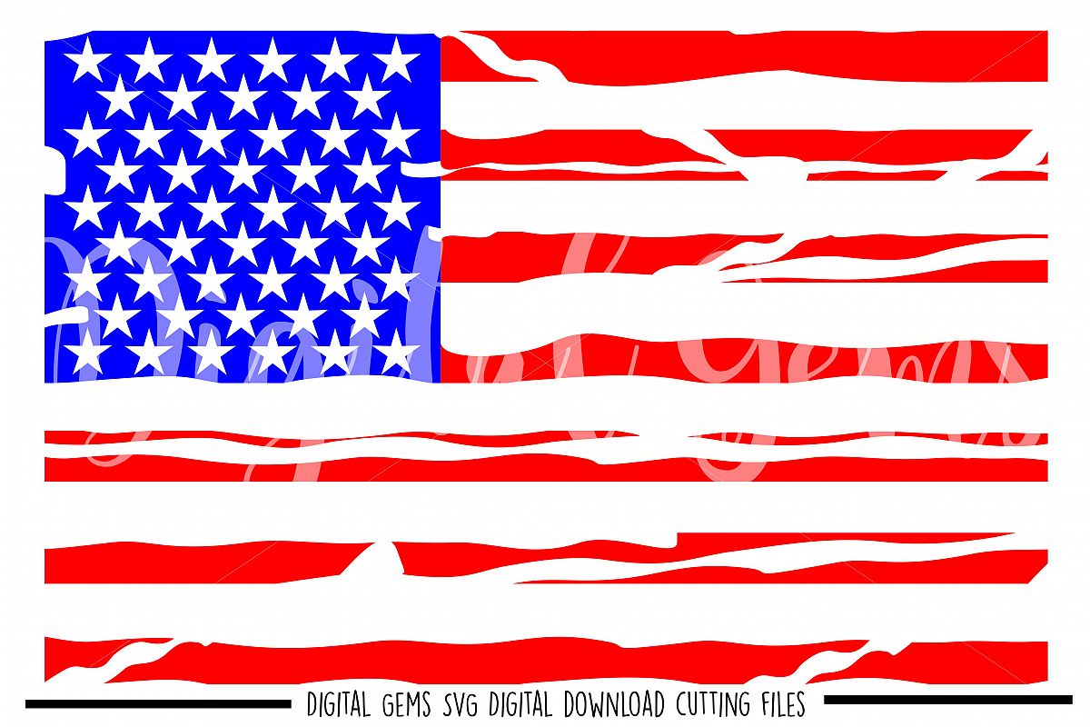 American Flag distressed SVG PNG EPS DXF files
