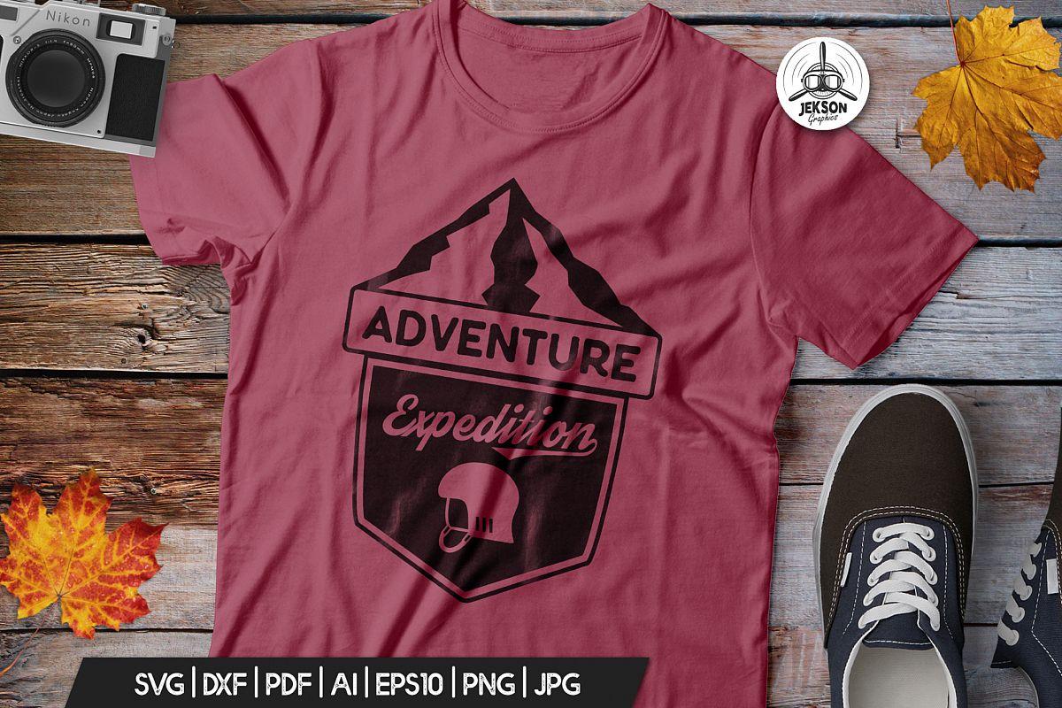 Vintage Adventure Logo / Retro Camp Hipster Badge SVG example image 1