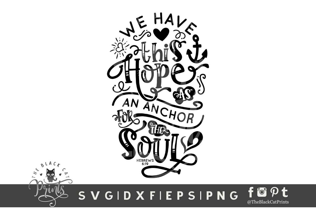 Hope Is An Anchor For The Soul SVG DXF EPS PNG| Easter svg example image 1