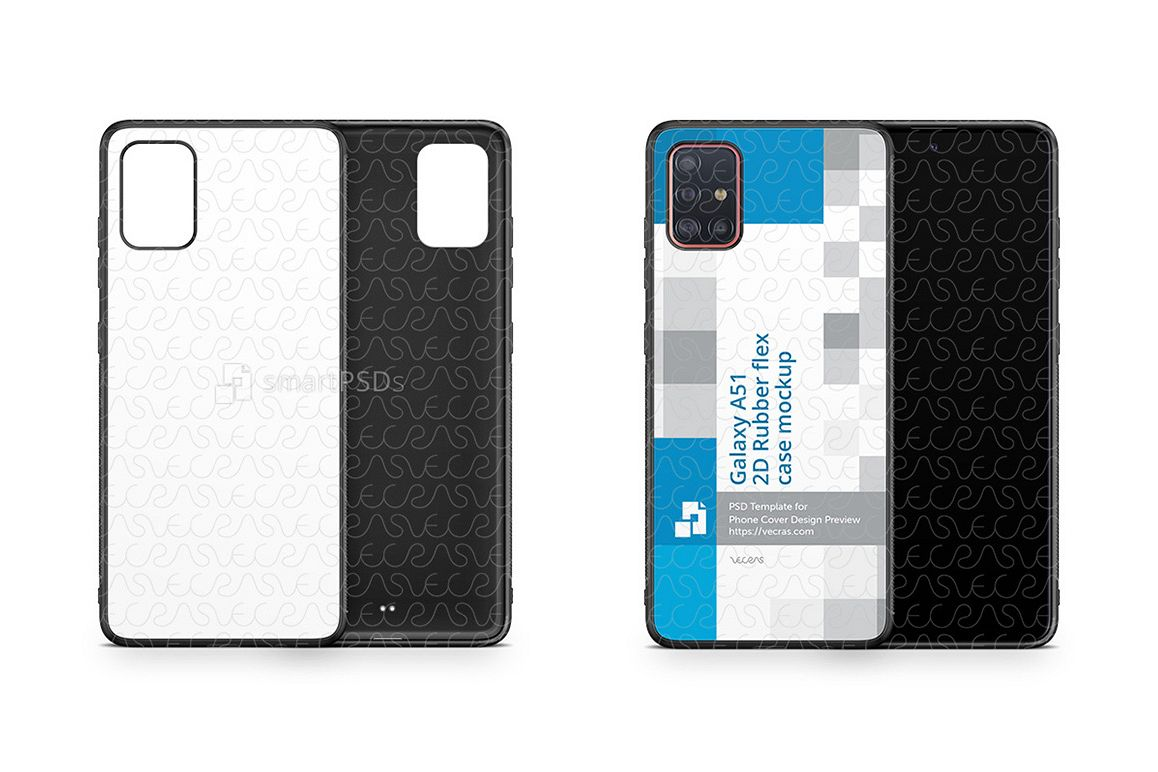 Galaxy 51 2019 2d Rubber Flex Case Design Mockup example image 1