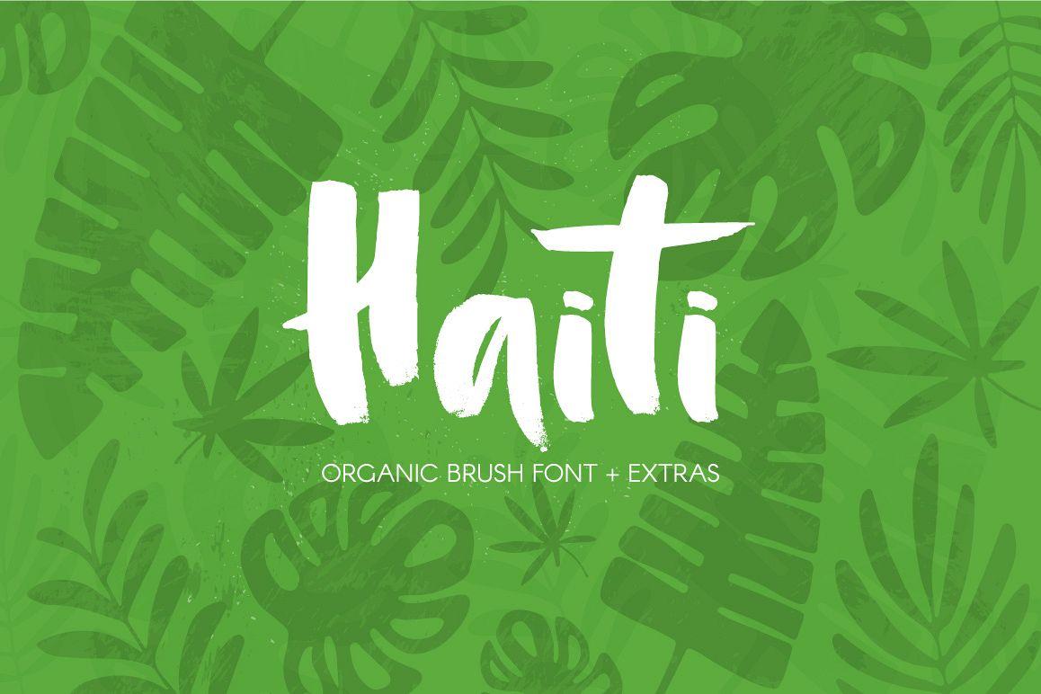 Haiti Organic Brush Font example image 1