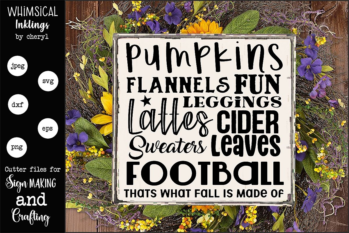 Thats What Fall Is Made Of SVG example image 1