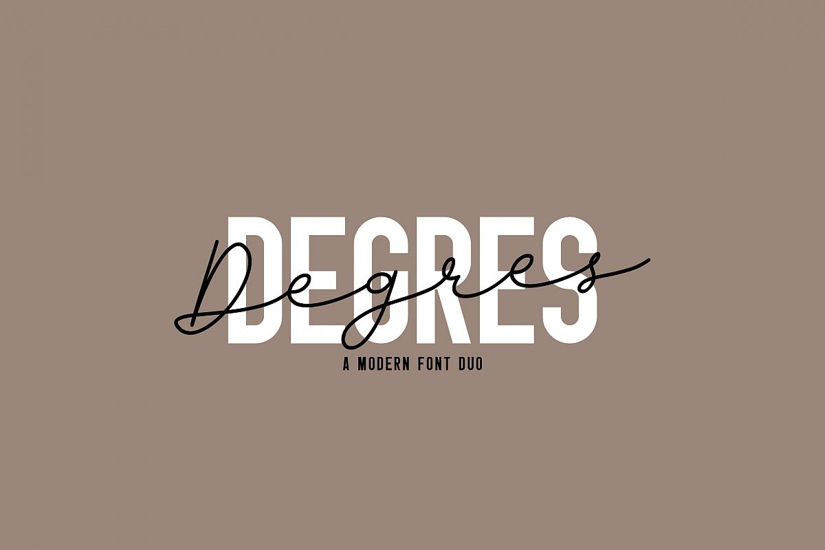 Degres Font Duo example image 1