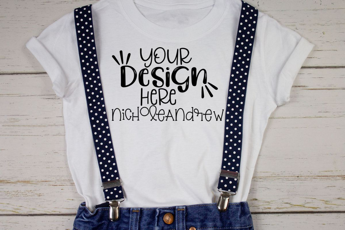 Suspender T-Shirt Mock Up example image 1