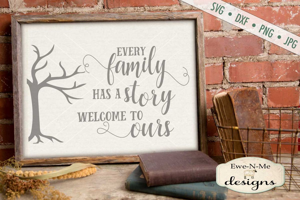 Every Family Has a Story - Family Tree - SVG DXF Files example image 1