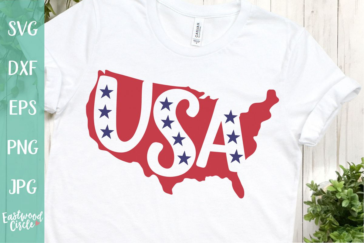 USA Silhouette - A 4th of July SVG Cut File example image 1