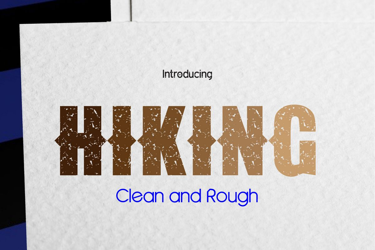 HIKING - Clean & Rough example image 1