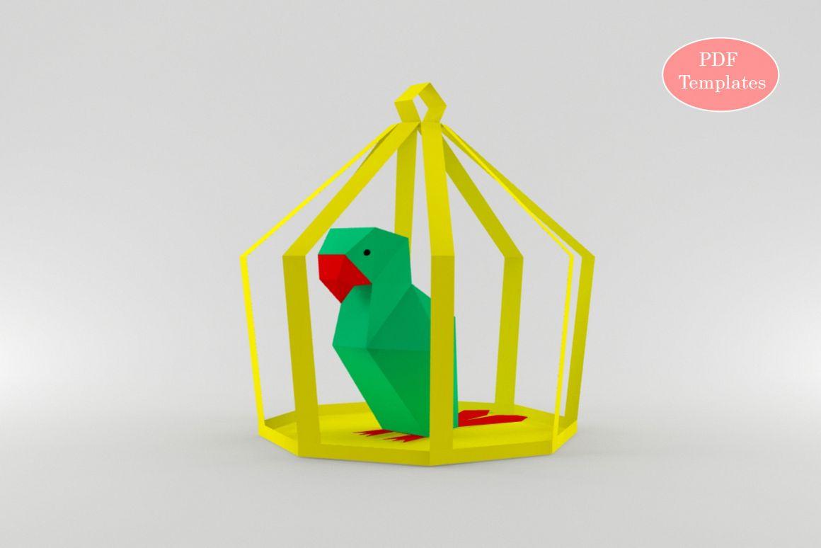 DIY Parrot - 3d papercraft example image 1