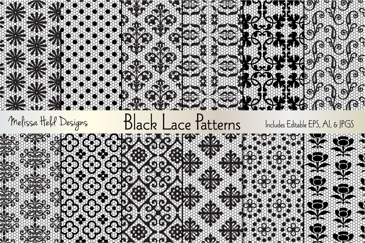 Black Lace Patterns example image 1