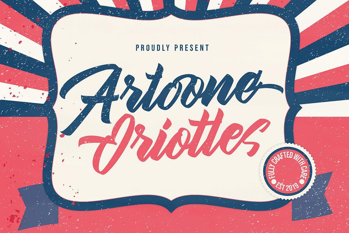 Artoone Oriottes Typeface example image 1