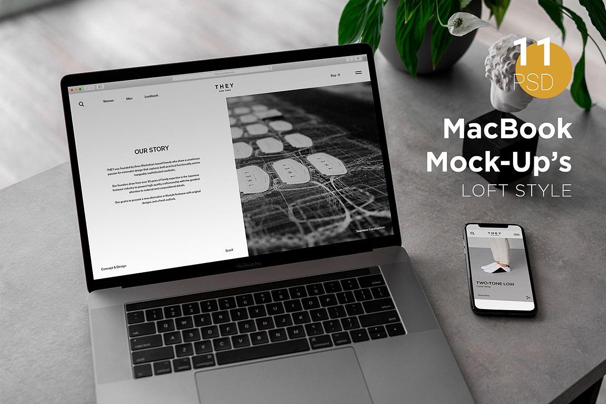 MacBook Pro Mock-Up Loft Style example image 1