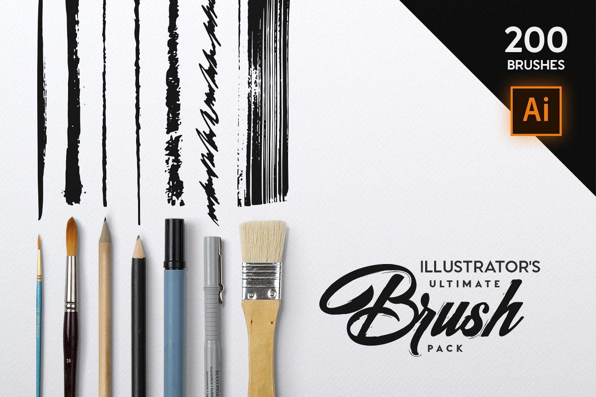 Illustrator's Ultimate Brush Pack example image 1