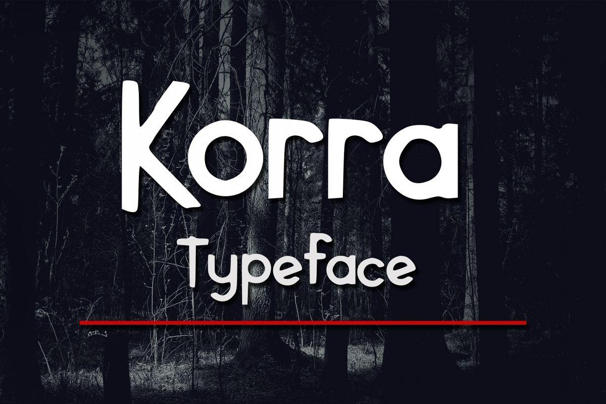 Korra Typeface example image 1