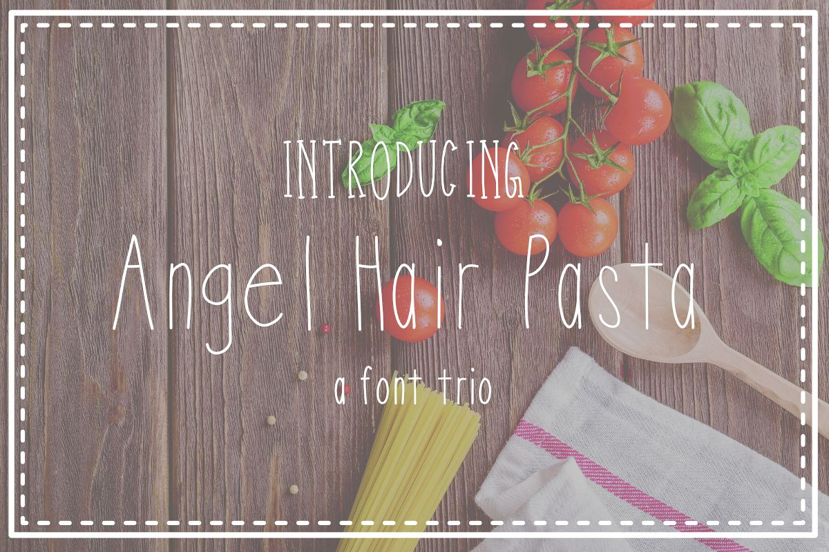 Angel Hair Pasta Font Trio example image 1