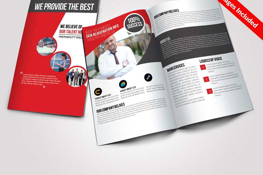 Business Bi Fold Brochure Templates