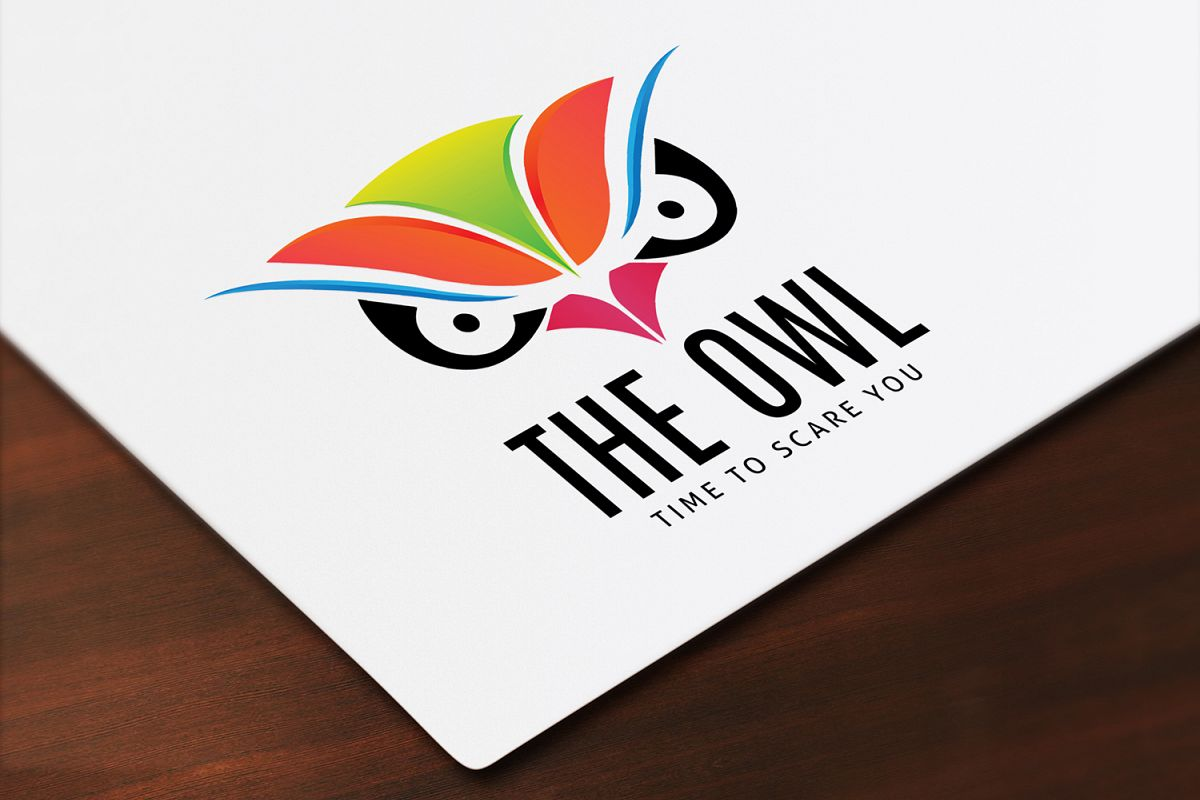 Owl Face Logo Template example image 1