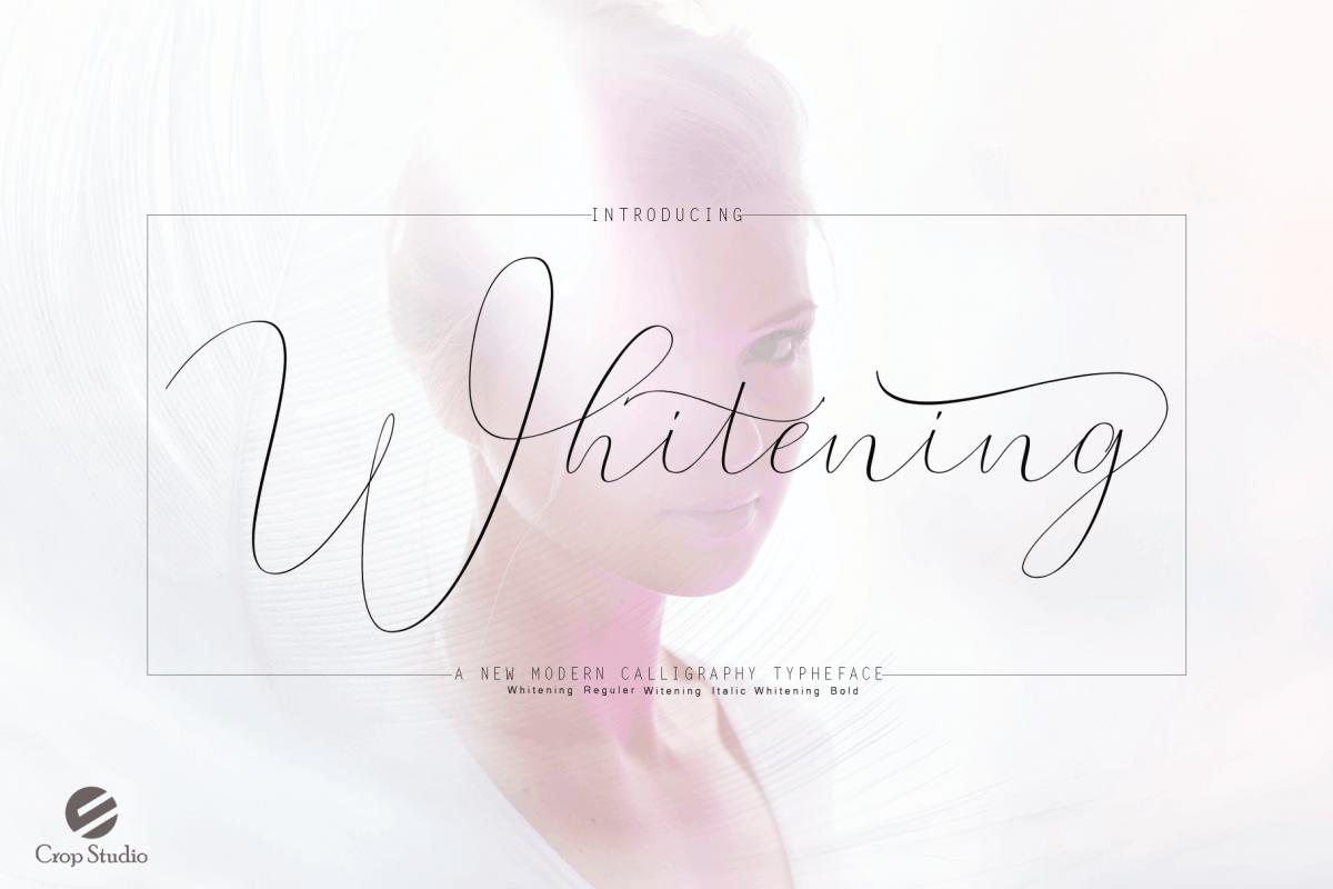 Whitening Font family example image 1