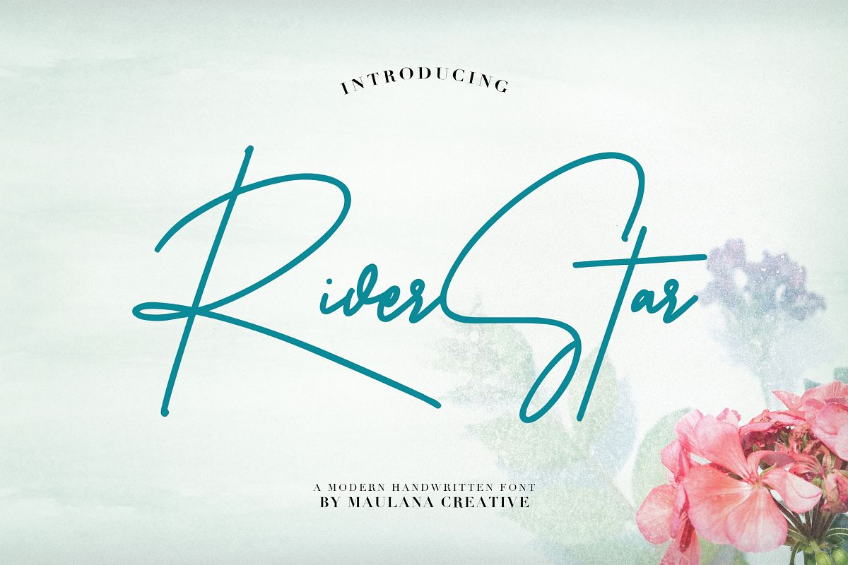 Riverstar Signature Font example image 1