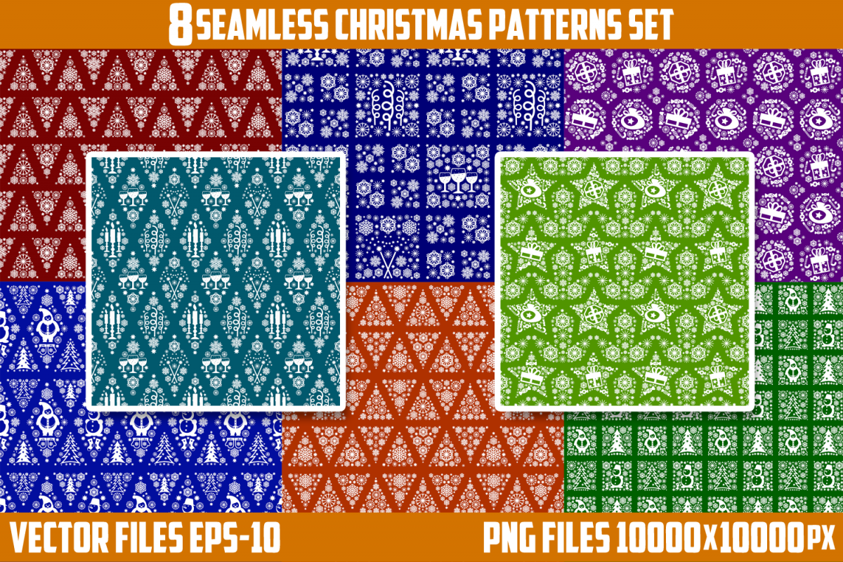 Christmas theme. Background, wrapping paper. example image 1