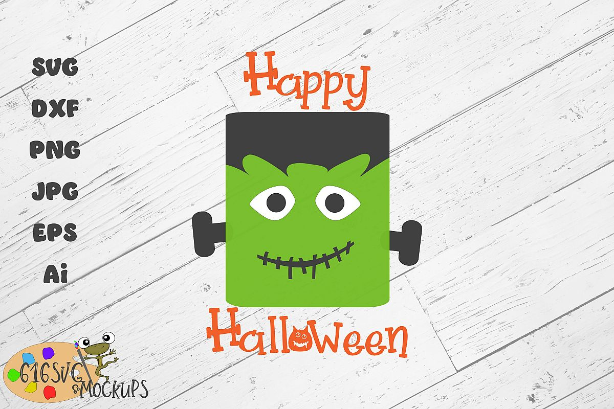 Happy Halloween SVG, DXF, Ai, PNG example image 1