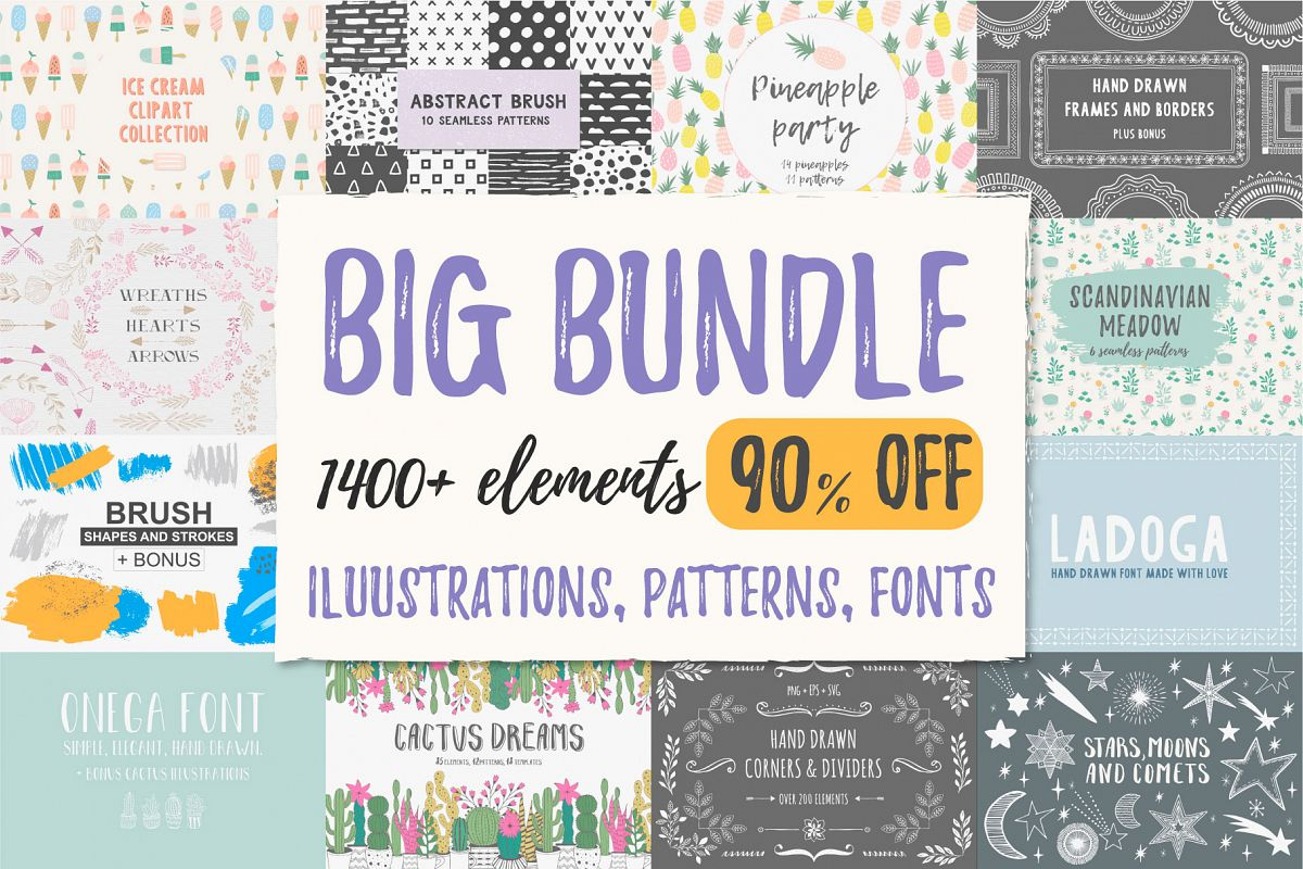 BIG BUNDLE - 90 off example image 1
