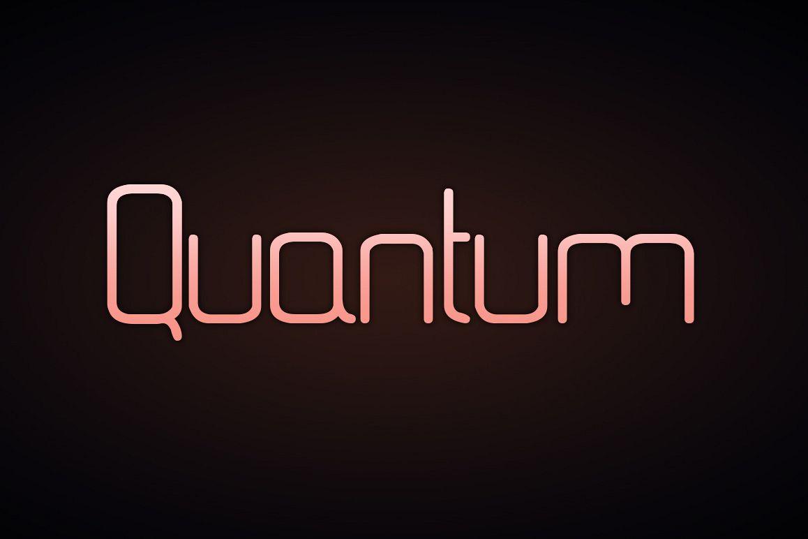 Quantum Font example image 1