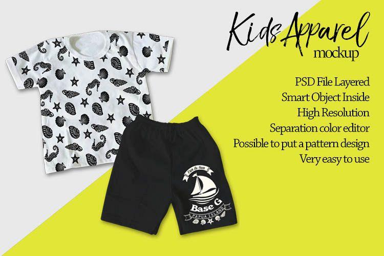Kids Apparel Mockup example image 1