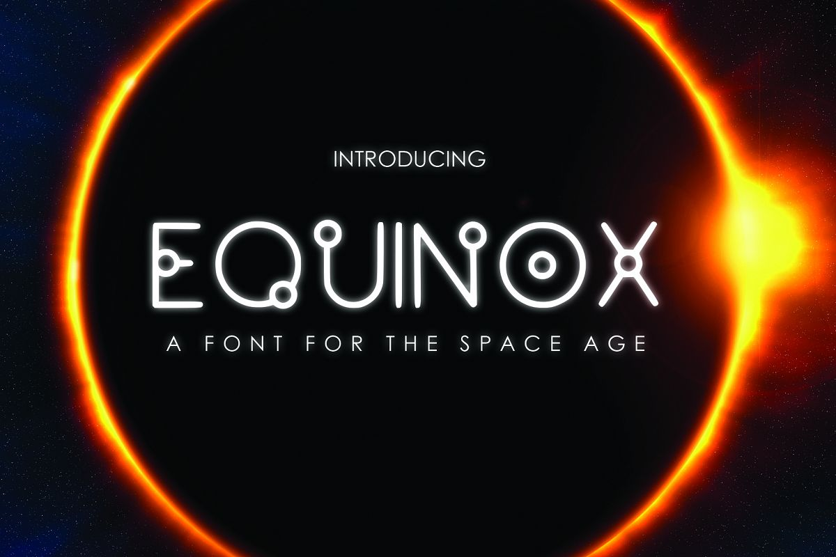 EQUINOX - A Font for the Space Age example image 1
