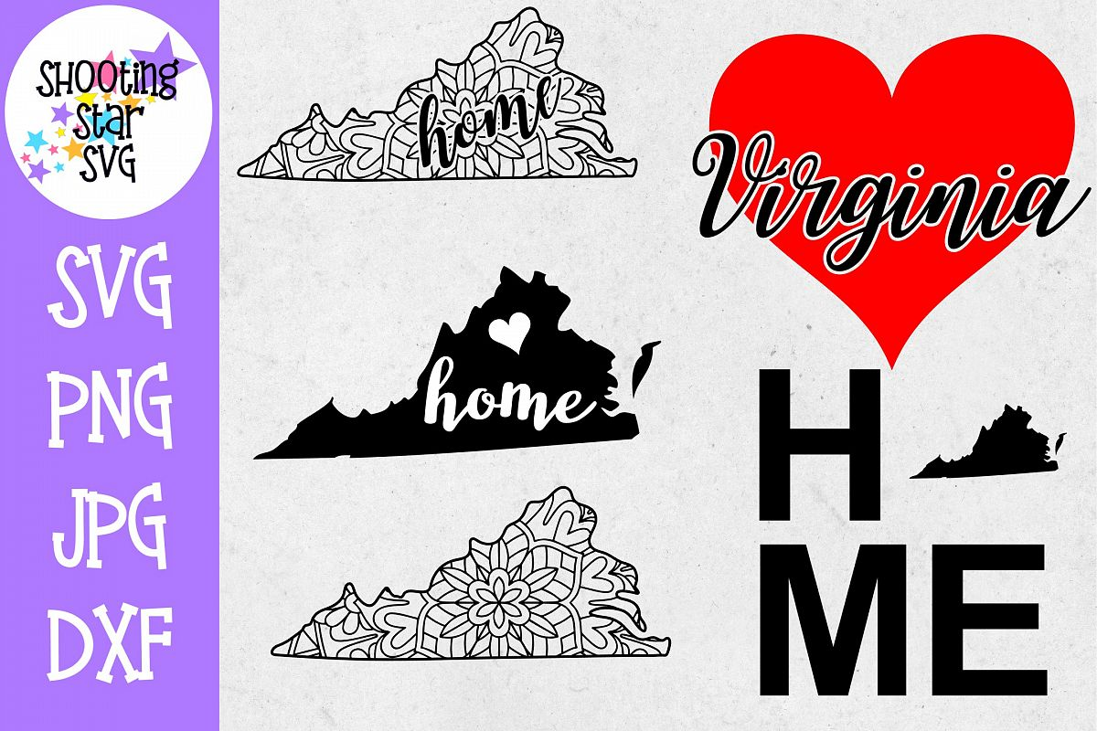 Virginia US State SVG Decal Bundle - 50 States SVG example image 1