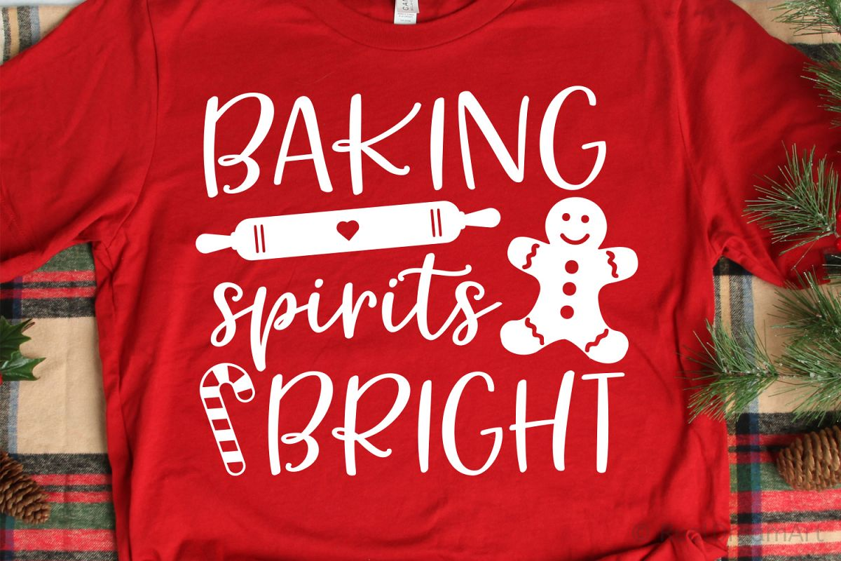 Baking Spirits Bright SVG, DXF, PNG, EPS example image 1