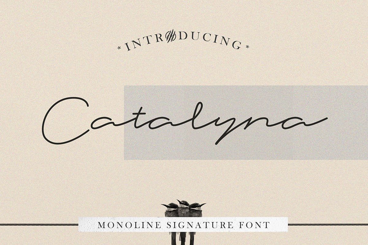 Catalyna Monoline Signature example image 1
