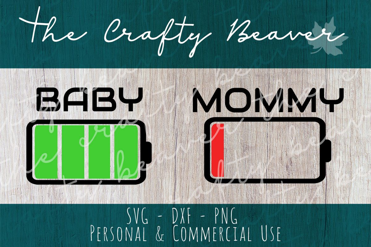 Mom and Baby Battery Cut File example image 1