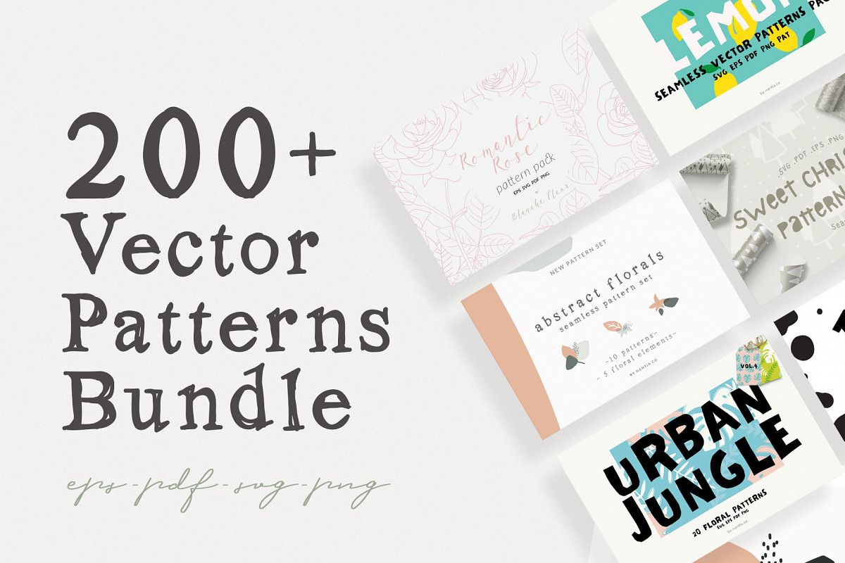 200 Vector Patterns Bundle example image 1