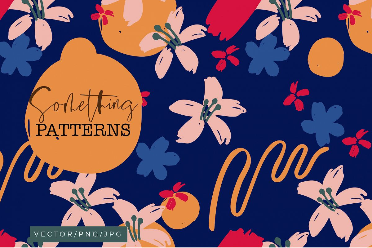 Something - Abstract Floral Patterns example image 1