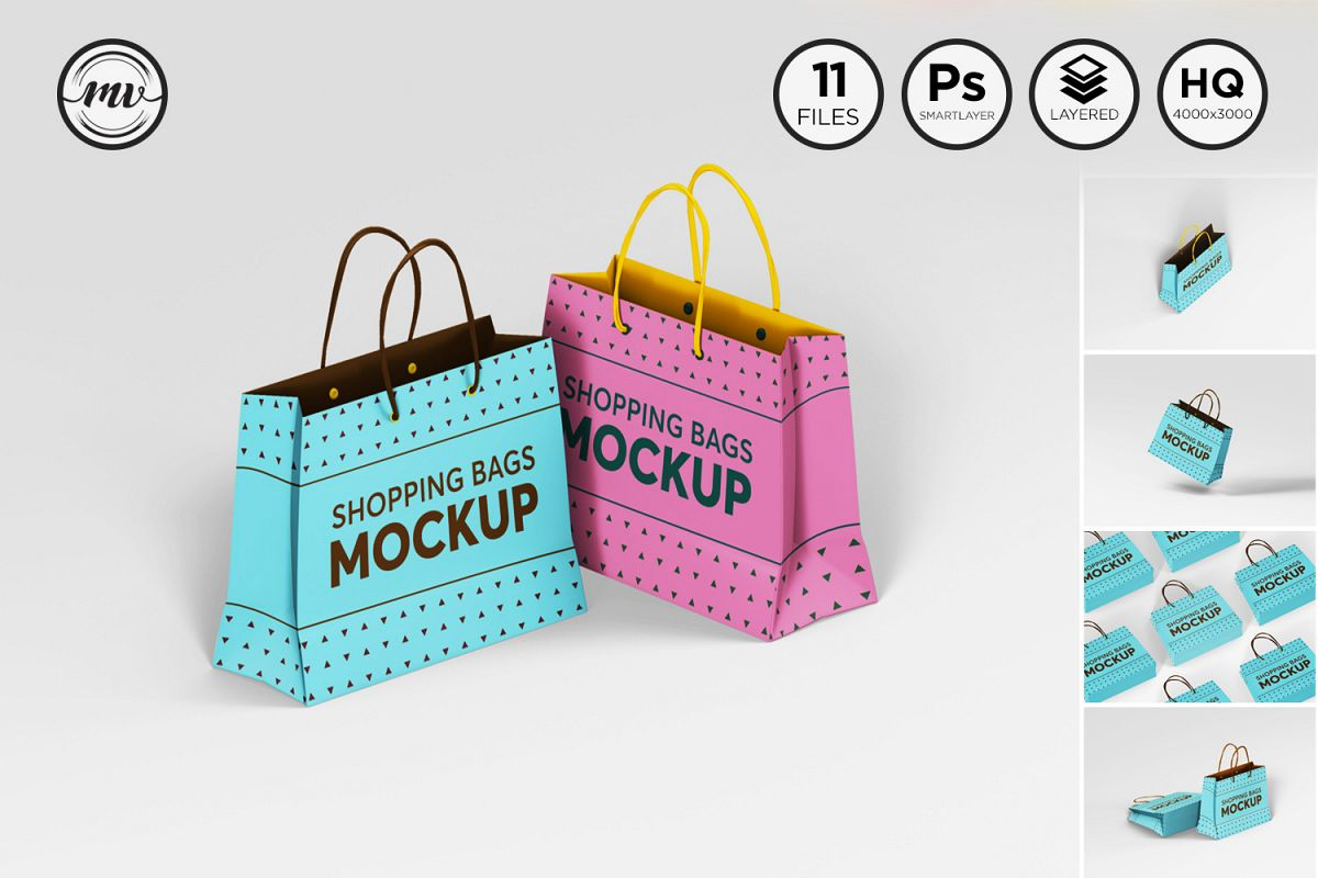 Shopping Bag Mockups V2 example image 1