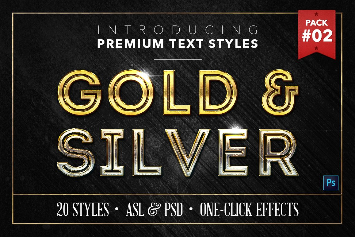 Gold & Silver #2 - 20 Text Styles example image 1