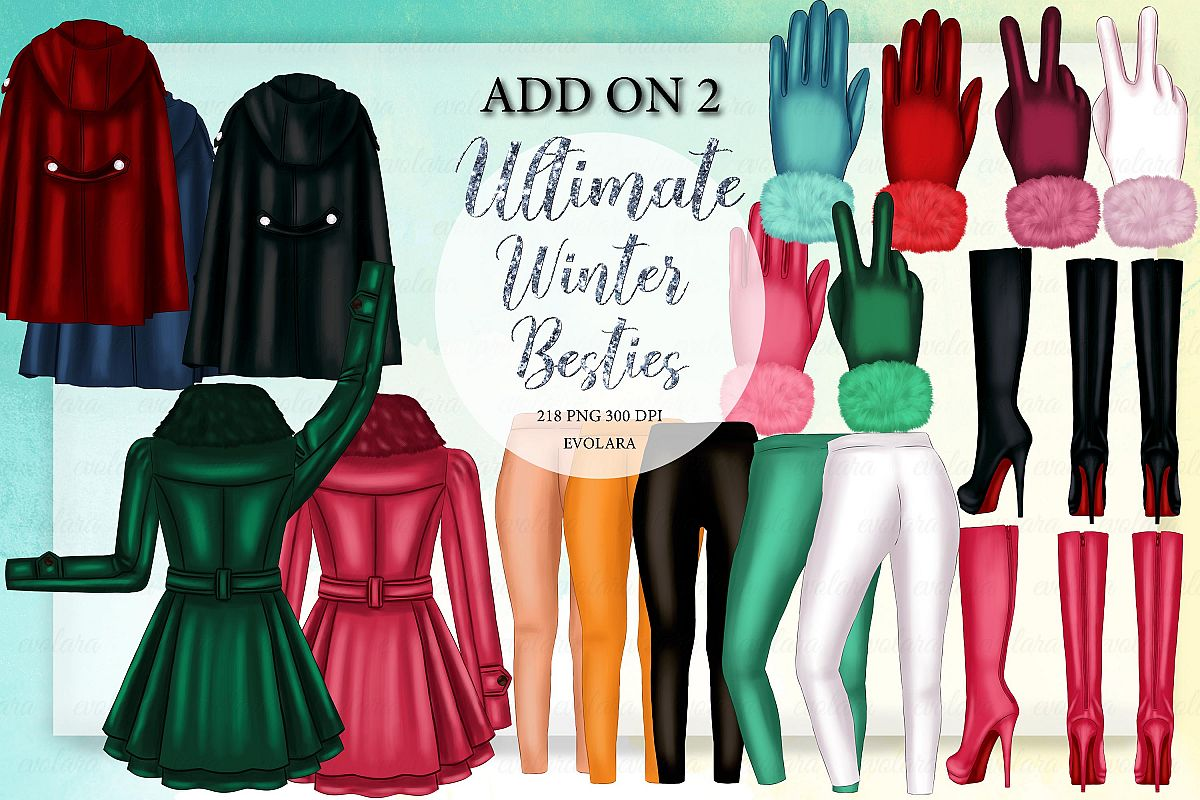 Add On Kit Best Friends Clipart Winter Besties Clipart example image 1