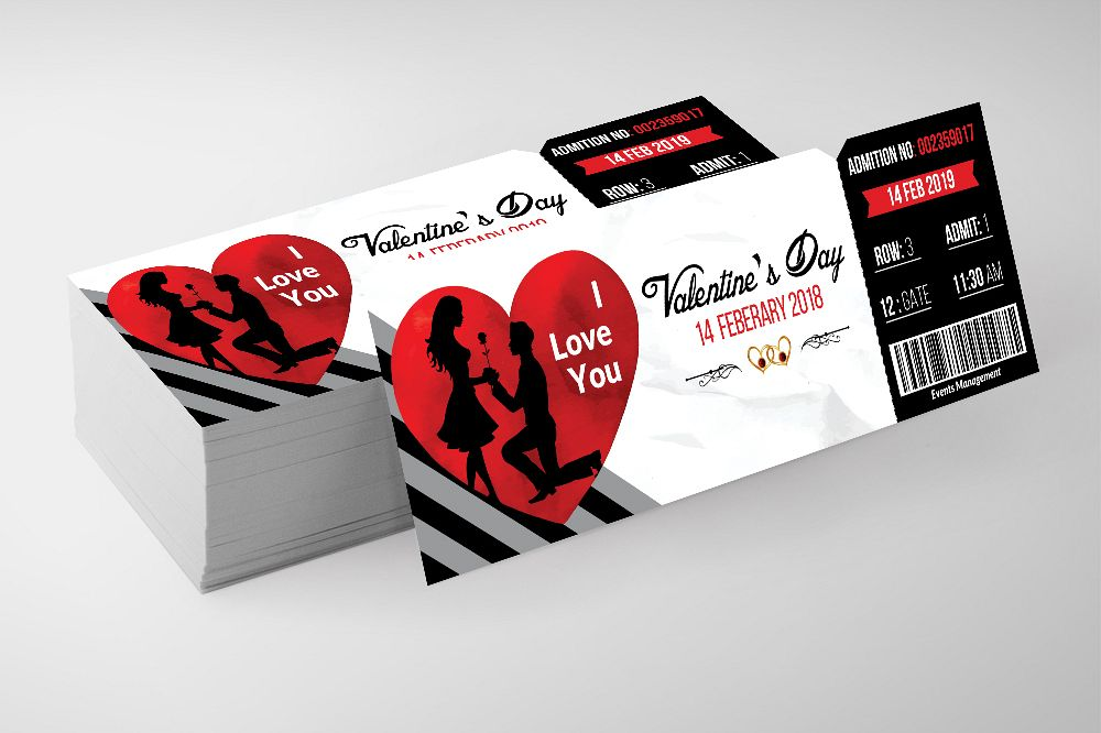 Valentines Party Event Ticket example image 1