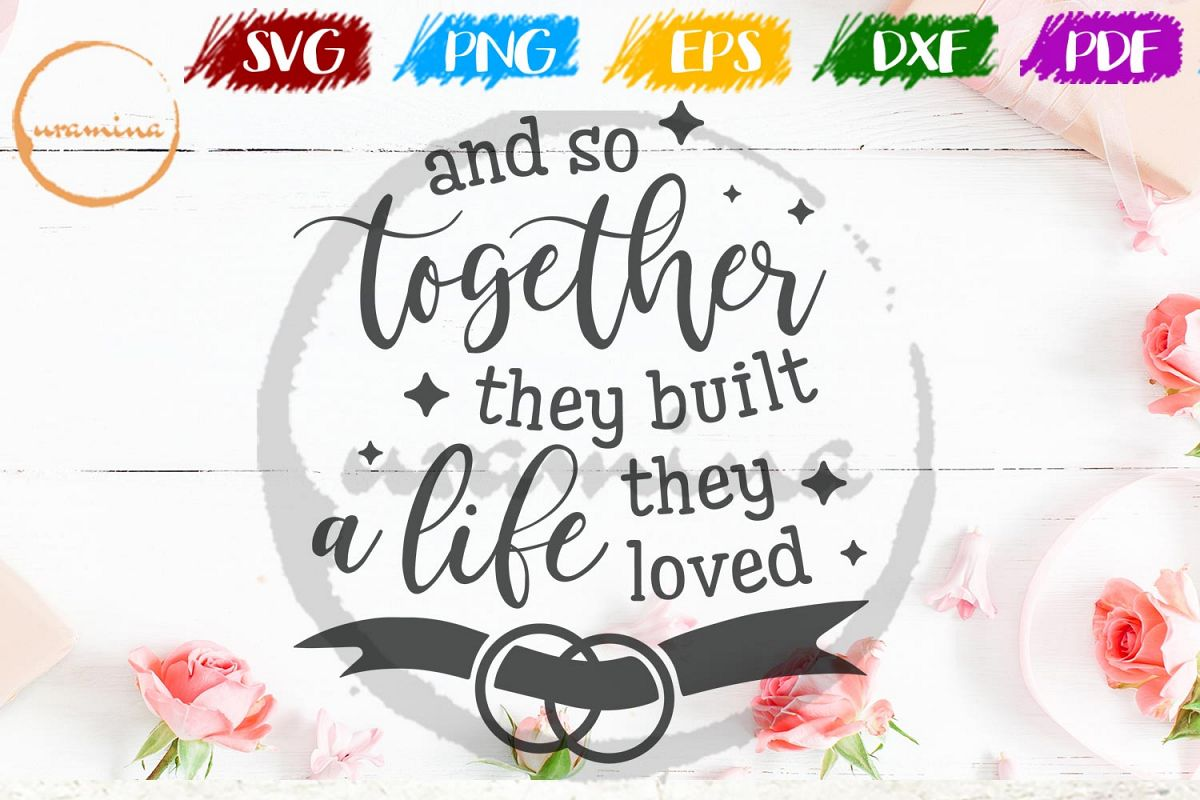 And So Together Valentine SVG PDF PNG example image 1